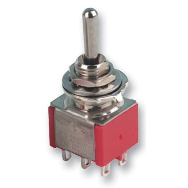 Picture of 6 pole mini toggle switch ON-OFF-ON