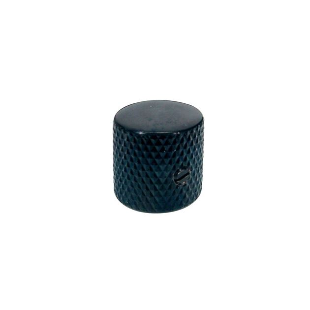Picture of Dome knop black flat top with screw