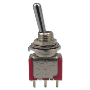 Afbeelding van 3 polige mini toggle switch ON-OFF-ON