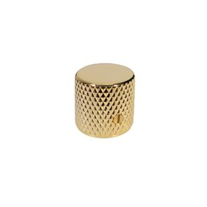 Afbeelding van Dome knop gold flat top with screw