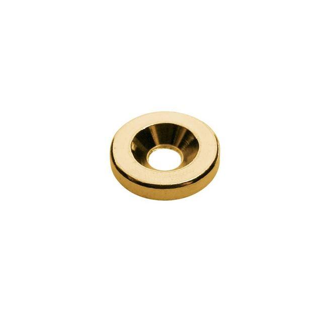 Afbeelding van Bass neck sockets gold 17mm, set van 4