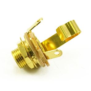 Picture of 6,3mm mono output Switchcraft gold