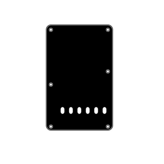 Picture of Backplate black 6 holes 3-ply