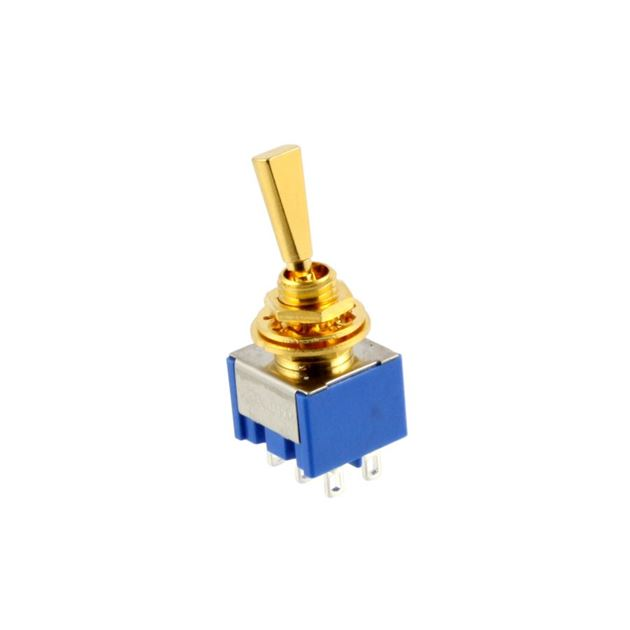 Picture of Mini Lever Switch On/On/On - Gold