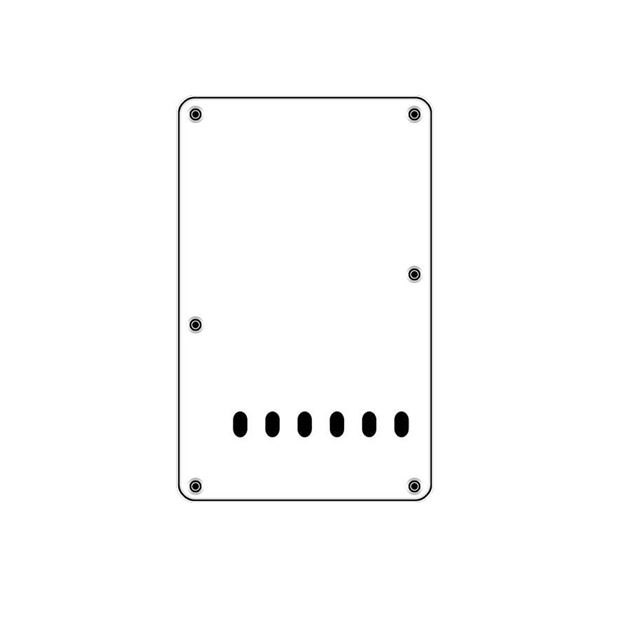 Picture of Backplate white 6 holes 3-ply