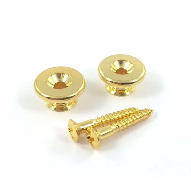 Picture of Gotoh strappin EP-B3, 17mm gold set of 2
