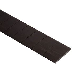 Afbeelding van Voorgezaagd ebben fretboard. 24.75 inch scale, 10 inch radius