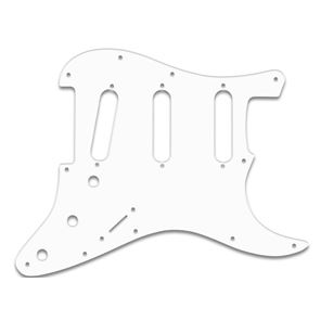 Picture of ST Pickguard SSS 1ply white, 11 holes