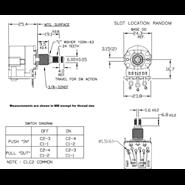 Afbeelding van CTS 500K Push Pull Audio Potmeter