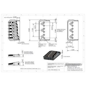 Afbeelding van Hipshot 41060C 6-snarige gitaarbrug in chrome