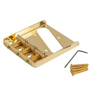 Picture of Kluson® USA Bridge For Telecaster® Brass Saddles Gold