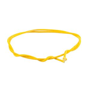 Picture of Gavitt Cloth Covered Push-Back Wire, Yellow 1 meter