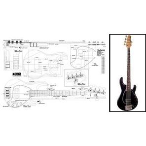 Afbeelding van MusicMan StringRay 5-string Bouwtekening