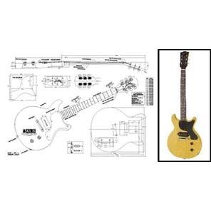 Afbeelding van Gibson Les Paul Junior Double Cut Bouwtekening