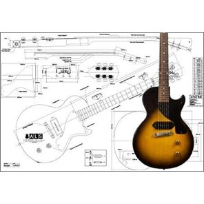 Picture of Gibson Les Paul Junior Blueprint
