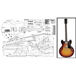 Afbeelding van Gibson ES-335 Bouwtekening