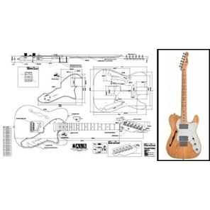 Picture of Fender Telecaster Thinline Bouwtekening