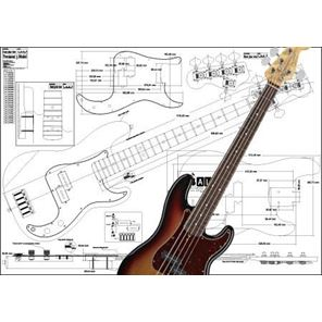 Picture of Fender Precision Bass 5-string Bouwtekening