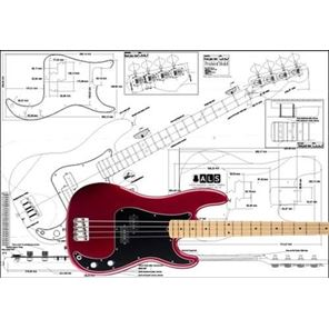 Picture of Fender Precision Bass 4-string Bouwtekening