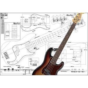 Afbeelding van Fender Jazzbass 5-string Bouwtekening