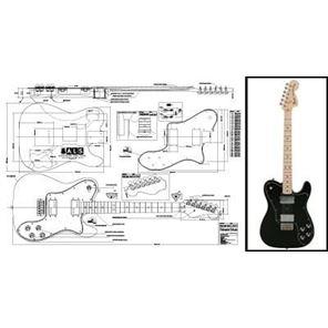 Picture of Fender Telecaster Deluxe Bouwtekening